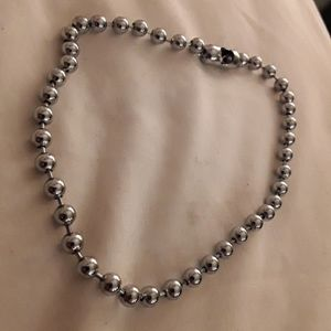 Sterling silver heavy ball chain anklet